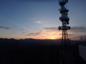 藻岩山(もいわやま) 日が沈む