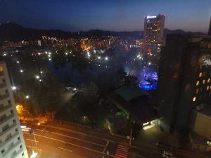 ライフォート札幌 室内からの夜景